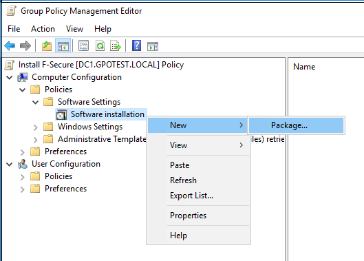 Installing the client software for Windows remotely | Rapid