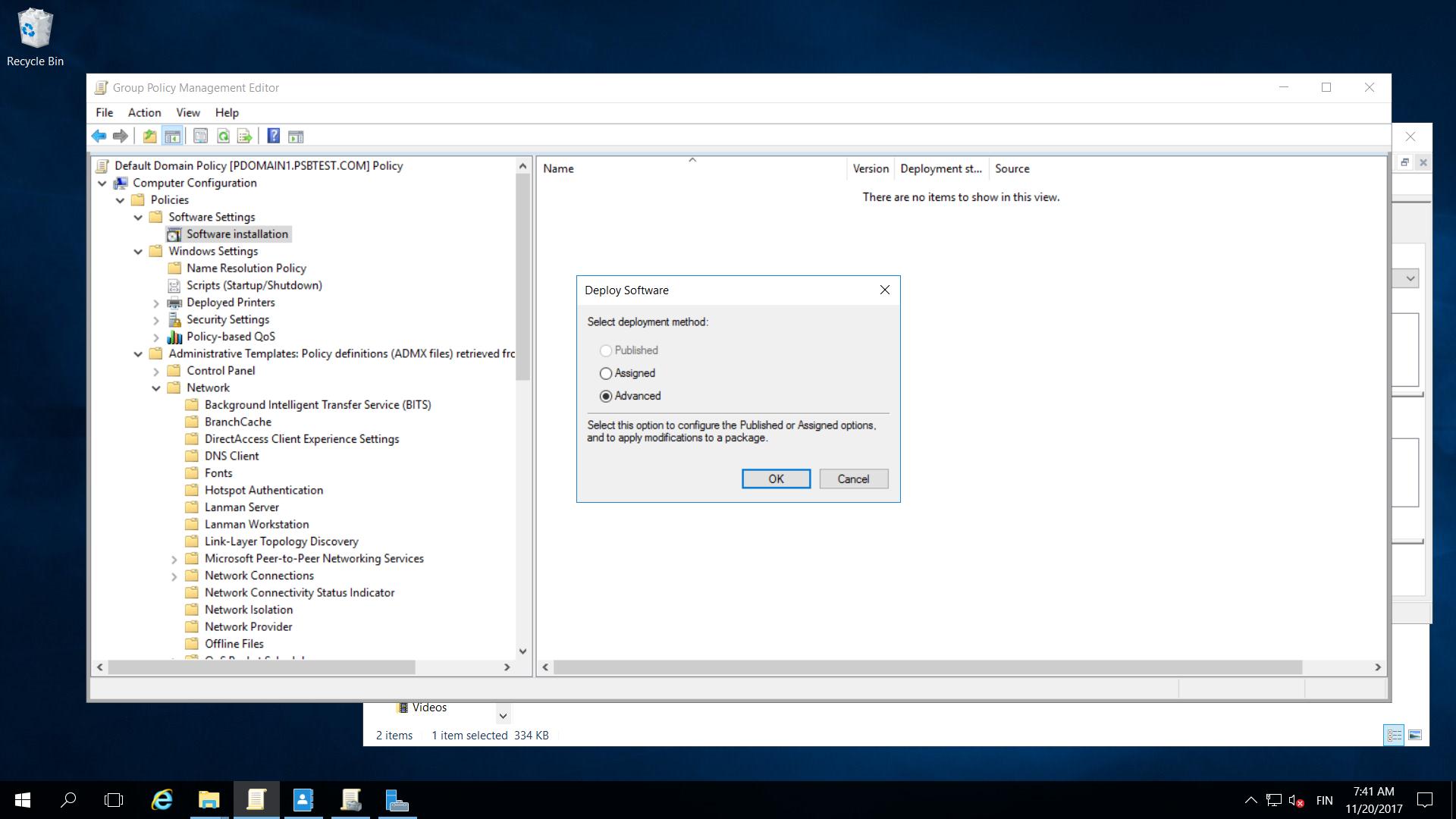 Remote Installation Of Computer Protection Via Active Directory