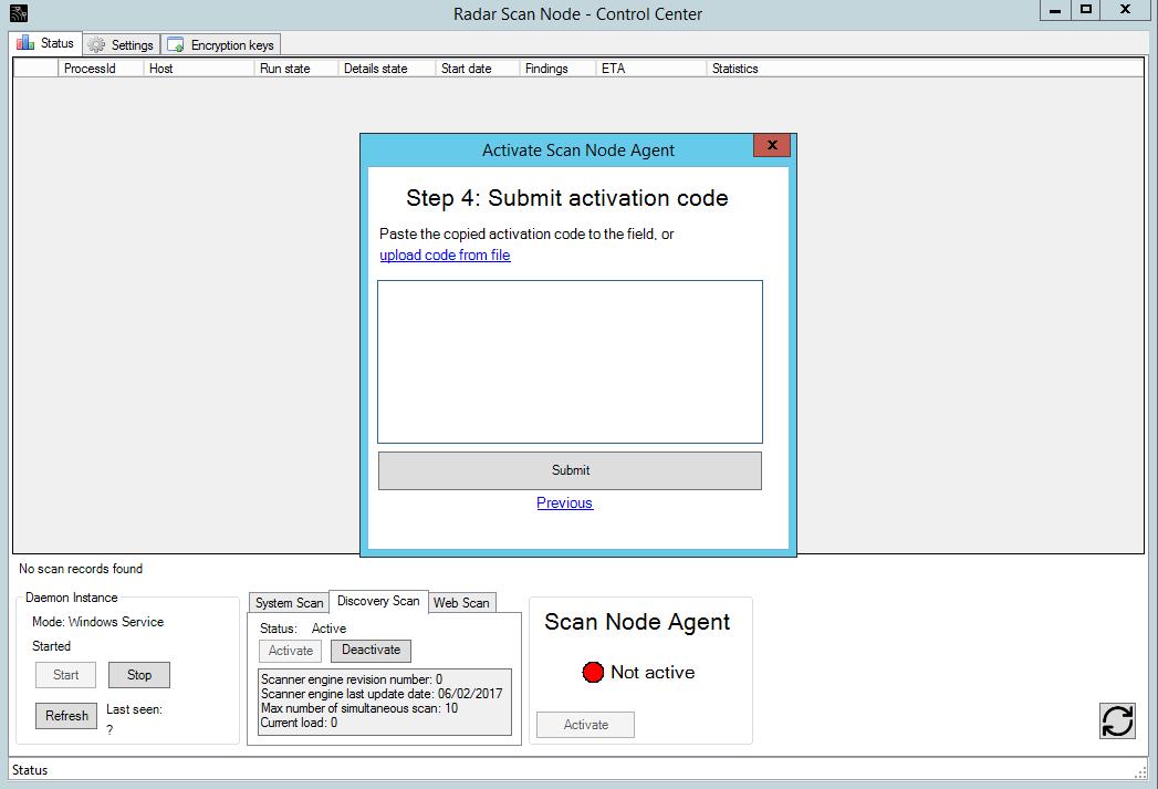 Using Radar scan nodes in an offline environment | Radar | 3 0 | F